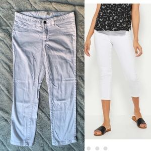 3/$15 Joe Fresh white Crop Jeans